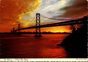 California San Francisco Oakland Bay Bridge 1973