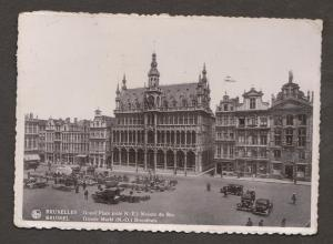 The Grand Palace & Groote Market, Brussels, Belgium - Real Photo - Used 1937