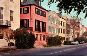 South Carolina Charleston Rainbow Row English Type architecture