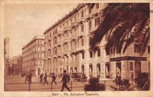 Bari Italy Via Salvatore Cognetti Street Scene Antique Postcard J79374