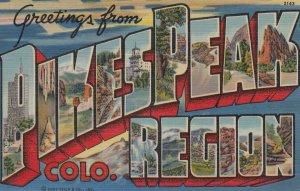 Large Letter PIKESPEAK REGION, Colorado 30-40s