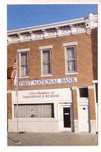 President Reagan Birthplace, Tampico, Illinios, First National Bank, 1981, Ph...