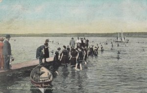 CHAUTAUQUA, New York, 1908; At the Bathing Beach, Chautauqua Institution