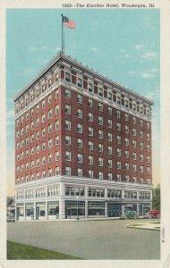 WAUKEGAN, Illinois, 1910-30s; The Karcher Hotel