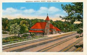 Michigan Central Railroad Depot Niles Michigan MI Linen
