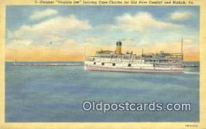 Steamer Virginia Lee, Norfolk, Virginia, VA USA Steam Ship Postcard Post Card...