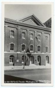 RPPC, Old Ford's Theater ,Washington, DC, by Abbie Rowe, Lincoln Assassinated