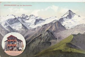 Austria Grossglockner Berghotel mountains panorama 1910 postcard