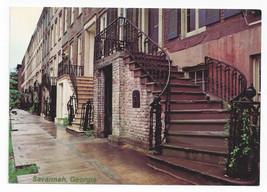 Savannah GA Gordon Row 19th C Historic Houses Vntg Postcard
