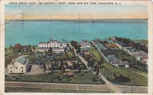 Cedar Grove Hotel and Gravelly Point, from Hair Pin Turn,  Highlands,  New Je...