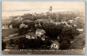 Lake Benton Minnesota~Birdseye Homes~Back Yards~Outhouse~Downtwon~Road~1919 RPPC