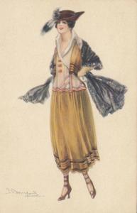 BOMPARD ; Art Deco Female Portrait  , 1910s #1