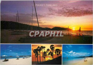 Postcard Modern Puket Thailand Patong Beach at sunset Kata Beach