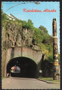 Alaska KETCHIKAN Chief Skowl Totem Pole at Tunnel down-town - Cont'l