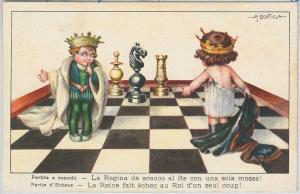 59736 - VINTAGE POSTCARD - Glamour Ladies CHILDREN - BERTIGLIA: Chess