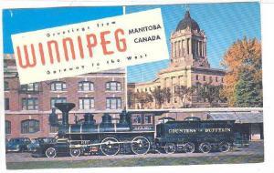 2-Views, Countess Of Dufferin Train, Greetings From Winnipeg, Manitoba, Canad...