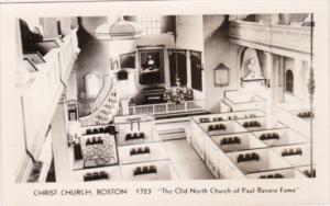 Interior View Christ Church Boston Massachusetts Photo