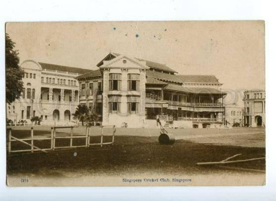 172265 SINGAPORE Cricket Club Vintage postcard