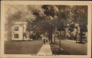 Moravia NY Church St. c1910 Postcard