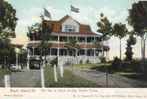 ROCK ISLAND, Illinois, 1907; The Inn at Black Howks Watch Tower