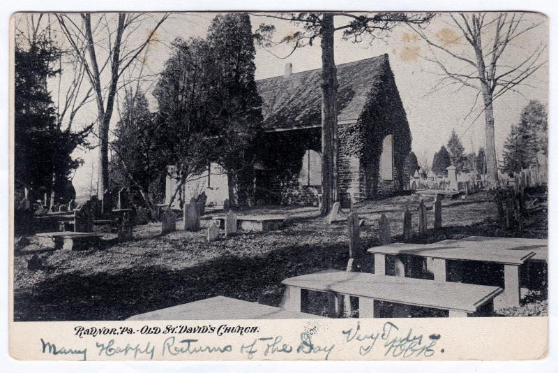 1901-07 Radnor PA Old St. Saint David's Church Cemetery Delaware Co UDB Poscard