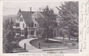 New Hampshire Concord Mrs Mary Baker G Eddys Home Pleasant View 1906