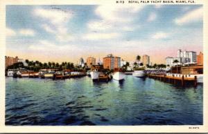 Florida Miami Royal Palm Yacht Basin 1935 Curteich