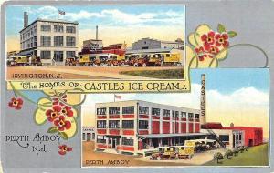 Perth Amboy Irvington NJ  Homes of Castles Ice Cream Delivery Trucks Postcard