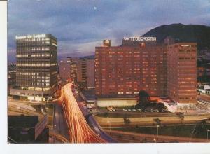 Postal 033623 : Aspecto nocturno del Tequendama y Bando de la Republica en el...