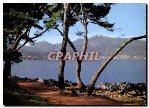 Modern Postcard The French Riviera Menton Menton View from Cap Martin