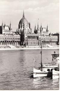 Hungary, BUDAPEST, Parliament, used real photo Postcard