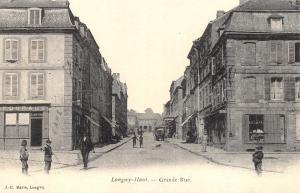 Postcard Vintage Longwy-Haut Grande Rue France French Reproduction