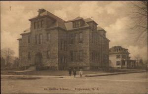 Englewood NJ St. Cecilia School c1910 Postcard jrf