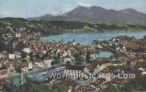 Luzern mit Rigi Swizerland 1957