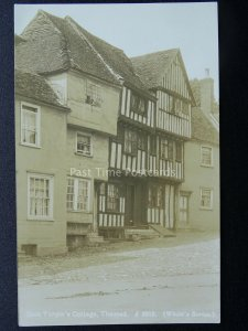 Essex Uttlesford THAXTED Dick Turpin's Cottage Old RP Postcard by White's Series