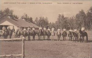 Wisconsin Eagle River Camp Nicolet For Girls Trail Riders At Stables Artvue