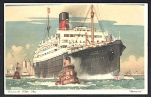 Cunard White Star RMS Samaria SPA Expo Cancel 1939 Postcard