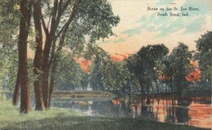 SOUTH BEND, Indiana: 1900-10s; Scene on the St. Joe River