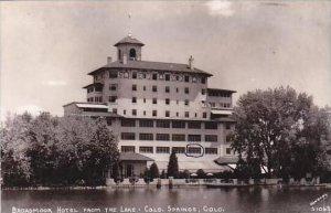 Colorado Colorado Springs Broadmoor Hotel From The Lake Sanborn Real Photo RPPC