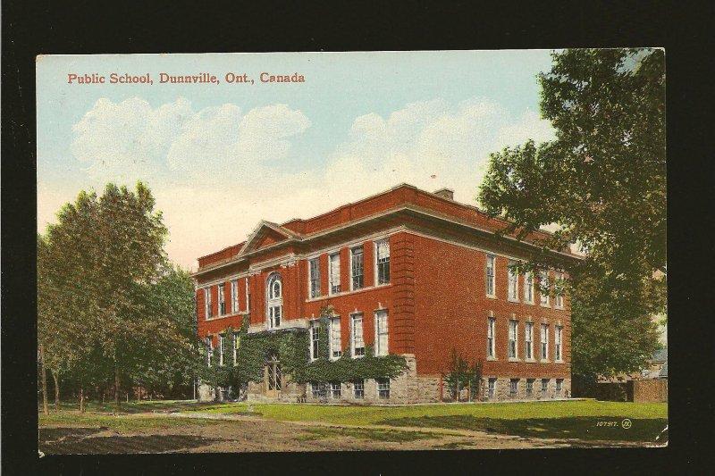 Postmark 1914 Dunnville Ont Public School Dunnville Ont Valentine Postcard