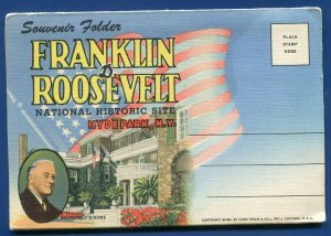 Franklin Roosevelt Hyde Park New York #2 Postcard Folder