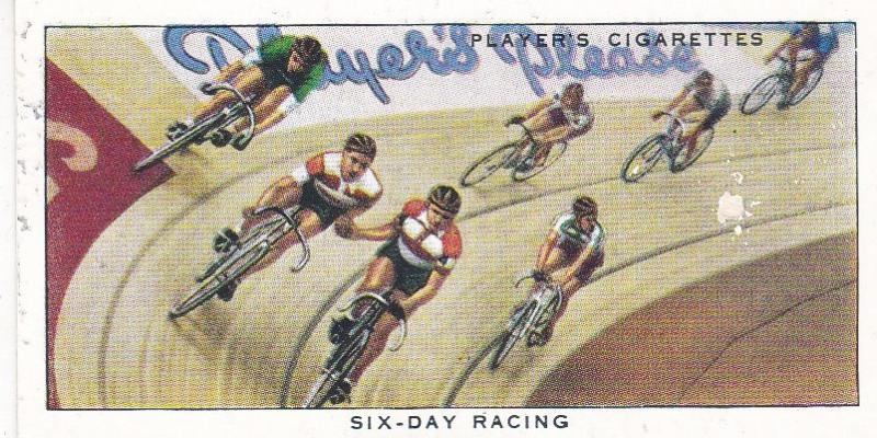 Cigarette Cards Players CYCLING No 43 Six Day Racing