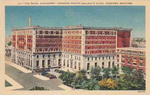 Aerial view, The Royal Alexandra Canadian Pacific Railway's Hotel,  Winnipe...