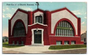 Early 1900s First Christian Church, Kearney, NE Postcard