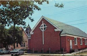 Rehoboth Beach Delaware~Epworth Methodist~Neighboring Church~1950s Postcard
