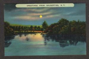 NY Greetings from SAUGERTIES NEW YORK Moonlight PC
