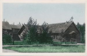 Hand-Colored RPPC Old Log Church at White Horse YT, Yukon Territory, Canada