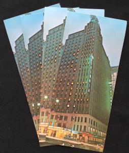 Long Postcard (4) Unused Abbey Victoria Hotel NYC New York LB