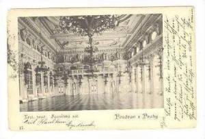 Pozdrav z Prahy, Kral. hrad  Spanelsky sal.   PU Austria, Pu 1905