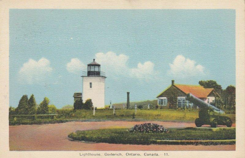 GODERICH , Ontario, 1930s ; LIGHTHOUSE